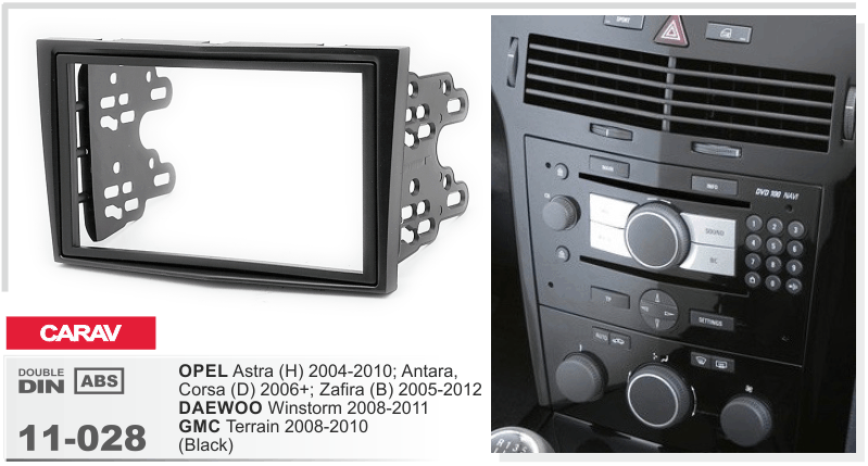 carav 11 028 autoradio cornice autoradio per opel astra h corsa d zafira 2 din ebay. Black Bedroom Furniture Sets. Home Design Ideas