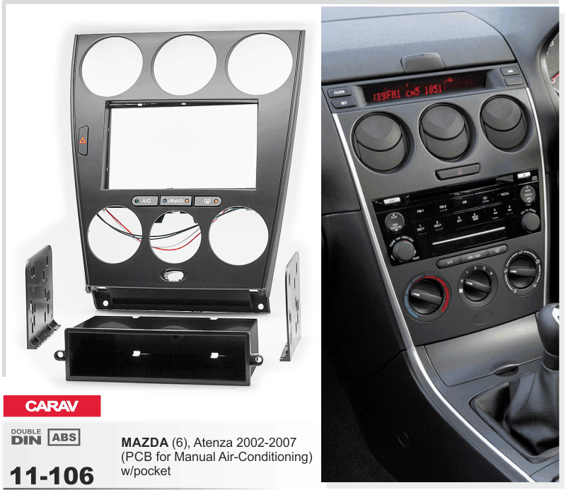 Carav 11106156 Stereo Fascia Plate Install Dash Kit For Mazda 6 Rhebay: Mazda 6 Dash Harness At Gmaili.net
