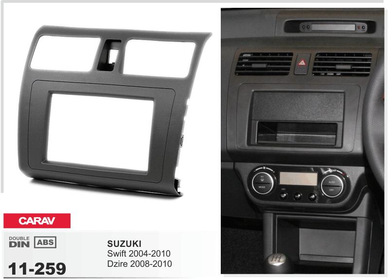 carav 11 259 autoradio radioblende f r suzuki swift doppel din neu ebay. Black Bedroom Furniture Sets. Home Design Ideas