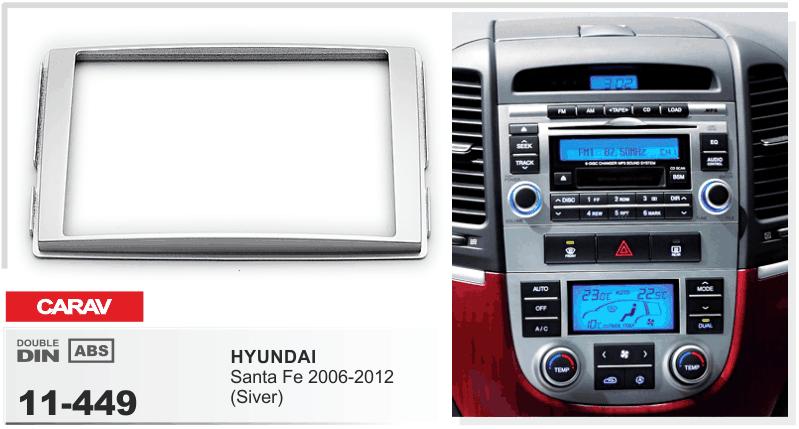 Carav11449 Car Stereo Radio Fascia Plate Panel Frame Kit For Rhebay: Hyundai Santa Fe Radio Bezel At Gmaili.net