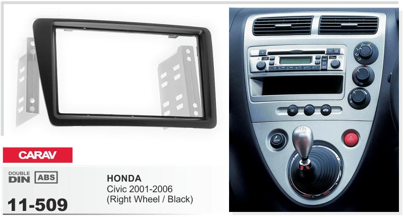 Carav 11509 Car Stereo Radio Fascia Plate Panel Frame For Honda Rhebay: 2006 Honda Civic Radio Panel At Gmaili.net
