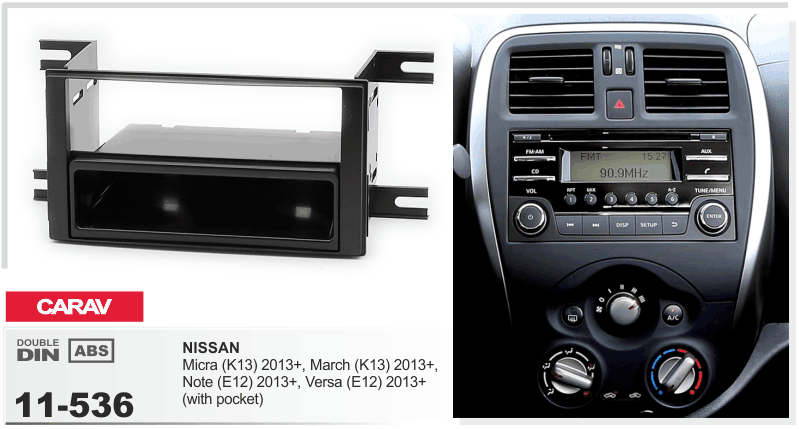 Car Stereo Radio Fascia Panel 2 Din Frame Kit For Nissan
