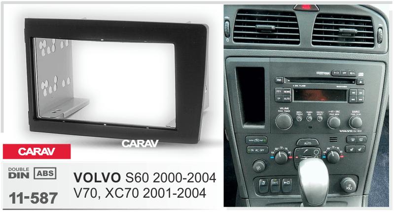 CARAV 11-586 autoradio façade radio pour volvo s80 DOUBLE DIN noir 1999-2005