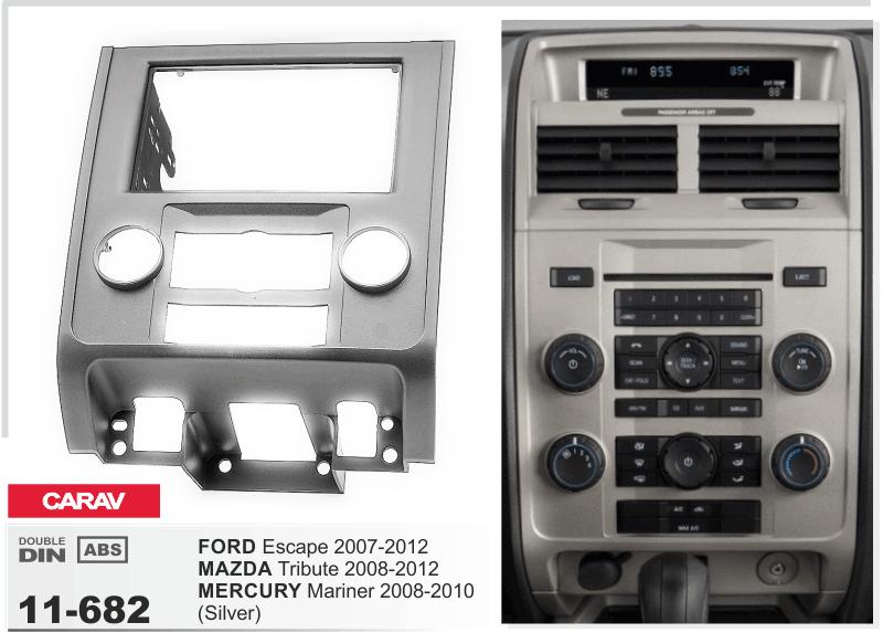 CARAV 11-084 Autoradio Radioblende für Mazda 5 Premacy Demio FORD i-Max silber