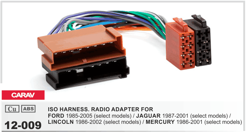 Carav 12009 Iso Car Stere Radio Wiring Harness Adaptor Connector. Carav 12001 Car Radio Installation Trim Fascia Panel. Jaguar. 2001 Jaguar Radio Wiring At Scoala.co