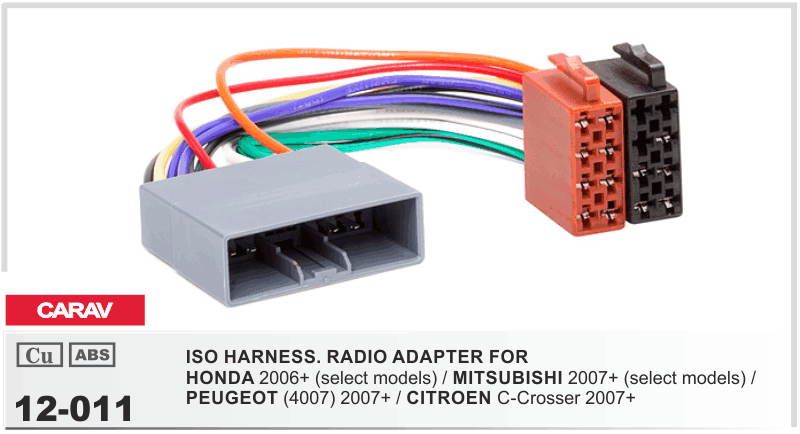 Carav 11-120 autoradio radio diafragma para honda civic tipo r s hatchback doble DIN