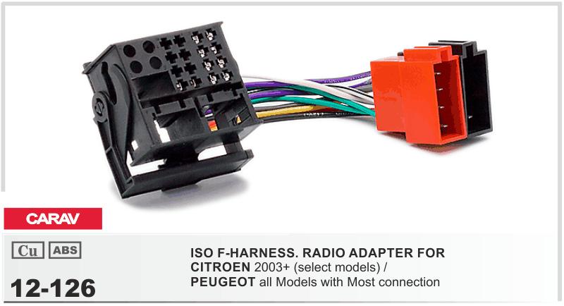 CARAV 12-026 Autoradio Adapterkabel ISO für Citroen C2 C3 C4 C5 Peugeot