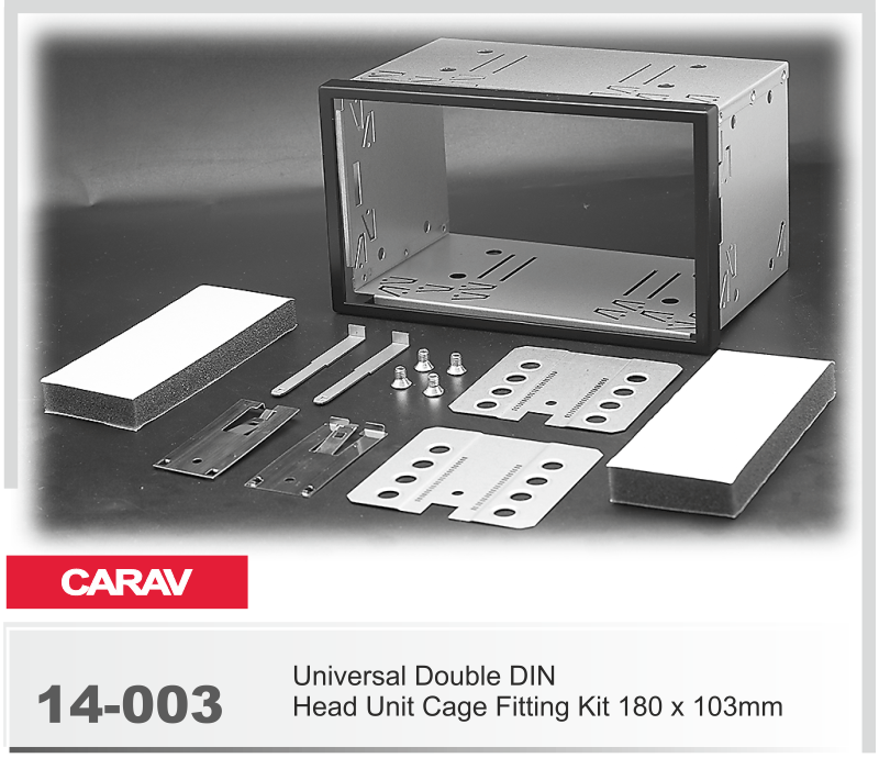 Universal Double Din Head unit Cage Fitting Kit Car Stereo Radio Mounting Frame Double DIN Installation Dash Kit