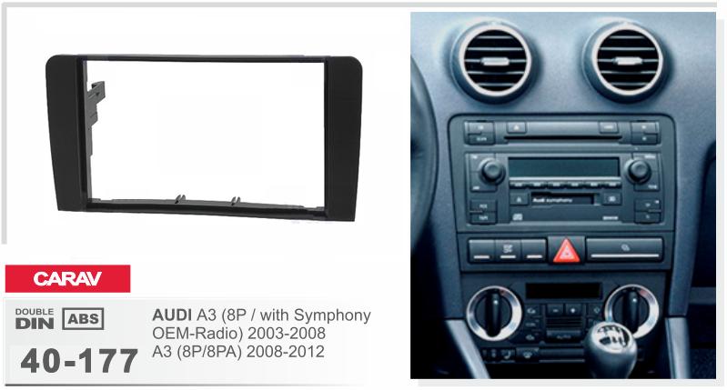 carav 40 177 autoradio radioblende f r audi a3 8p mit. Black Bedroom Furniture Sets. Home Design Ideas